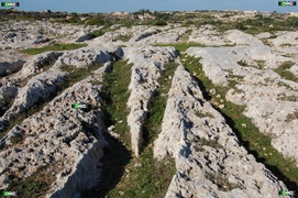 The largest collection of photos of the Malta and Gozo Cart Ruts/Tracks including Clapham Junction.  Also showing the Cart Ridges, Boxes, Clapham Junction Triangle, the Cart Rut Caves, associated natural terracing...