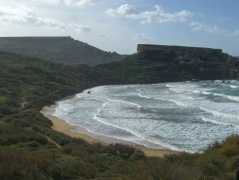 circular bays malta ghajn tuffieha beach headland