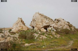 il Pellegrin headland angled boulders scree Maltese Islands