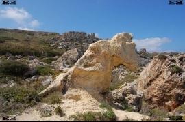 Gnejna Beach Malta Bay limestone formation astronomy observatory