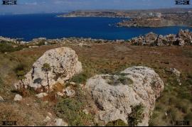 Menhire Maltas Tempelerbauer Standorten Megalith Gnejna Bay beach Malta
